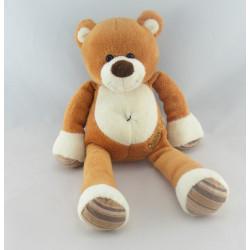 Doudou ours blanc marron bandanas BABY NAT