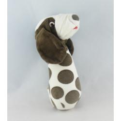 Doudou chien blanc beige H ET M HM