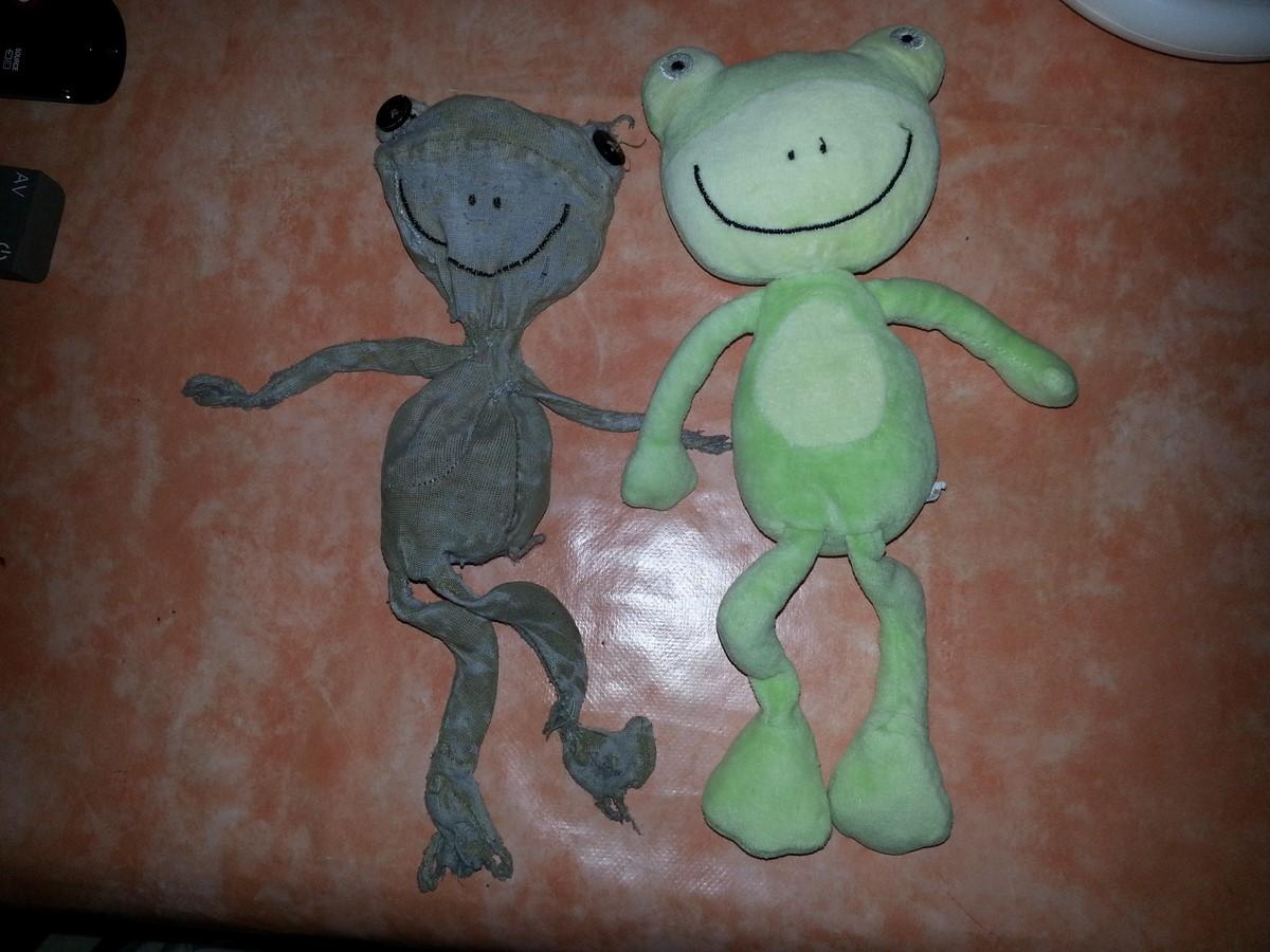 doudou grenouille Dpam et son jumeau
